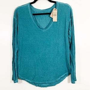American Eagle Soft & Sexy V-Neck Curved Hem Top S